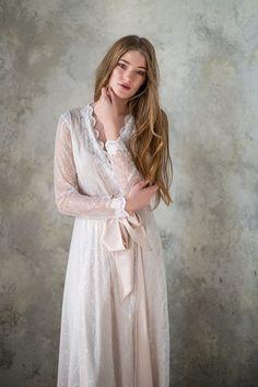 Lace bridal robe // nude bridal robe // wedding robe,bridal robe,satin robe, gift for woman,womens r Lace Bridal Robe, Bridal Robes, Bridal Lingerie, Bridal Boudoir, Lace Lingerie, Luxury Lingerie, Honeymoon Lingerie, Bridal Photoshoot, Bridal Lehenga