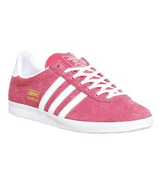 finest selection f35bc 1a790 Adidas Gazelle Og Lush Pink White Metallic Gold - Hers trainers