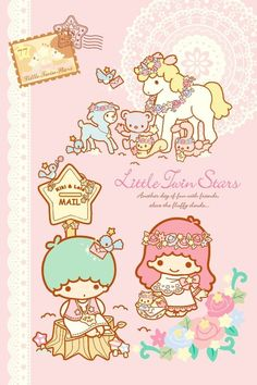 ✔ Cute Kawaii Wallpapers Little Twin Stars Sanrio Wallpaper, Star Wallpaper, Hello Kitty Wallpaper, Kawaii Wallpaper, Cartoon Wallpaper, Screen Wallpaper, Hello Kitty Backgrounds, Little Twin Stars, Little Star