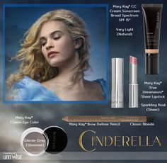 Mary Kay® CC Cream Sunscreen Broad Spectrum SPF 15 - Get easy complexion correction with a formula that acts like makeup and is formulated like skin care. Cinderella Makeup, Princess Makeup, Disney Makeup, Cinderella Movie, Cinderella 2015, Mary Kay Cosmetics, Make Up Looks, Maquillage Mary Kay, Sheer Lipstick
