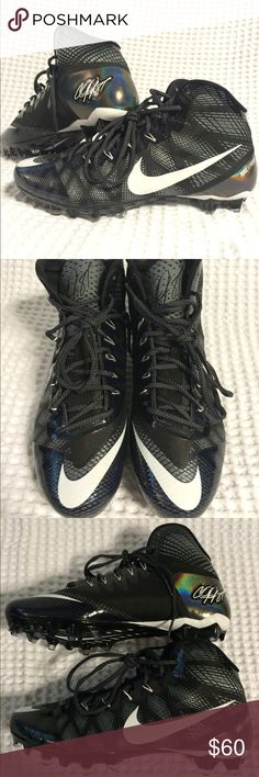 Nike CJ3 FlyWeave Elite TD Football Cleats BRAND NEW, NEVER WORN Nike CJ3 FlyWeave Elite TD Football Cleats  in Black and White. Calvin Johnson's signature Nike Cleats. Very light and durable cleats!! SIZE is a Men's 10.5. Retails for $100 asking $60. If you're interested or have any questions, message me or text me at 5O3 47nine 7five98  Tags: Kicks, Tennis shoes, Jordan's, Nike, Adidas, Kobe, Basketball, Air Max, LeBron James, Kevin Durant, NBA, NFL, Kicks, Kobe Bryant, Black Mamba, Under…