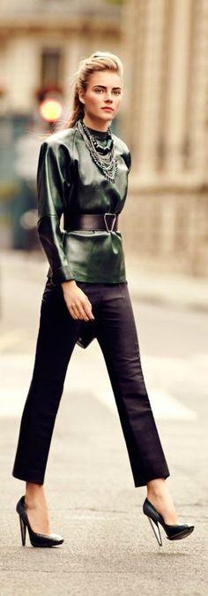 street fashion, jacket, fashion work, emerald, green, fall, street styles, leather style, winter chic