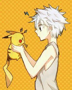 Killua holding Pikachu. My life is complete. :)