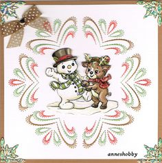 Kerstkaart geborduurd, stitch & do