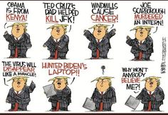Trump Cartoons, Free Cartoons, Political Cartoons, Pathological Liar, The Week Magazine, Jfk, Dumb And Dumber, Dads, Comics