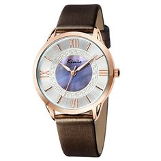 5e8d715ebfba Tidoo Watches Candy Lady Series Womens Fashion Wrist Watch Japaneses Quartz  Movement Staintless Steel Rose Gold Tone Case White Analog Dial Black PU  Leather ...