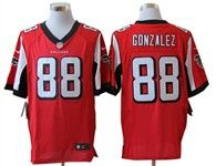 Nike Atlanta Falcons Tony Gonzalez Red Team Color With Hall of Fame Patch Men's Stitched NFL Elite Jersey Jason Pierre Paul, Larry Fitzgerald, Bo Jackson, Red Team, Nfl Shop, Atlanta Falcons, Football Jerseys, Fashion Games, Nike