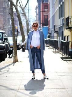 casual outfit with robe coat