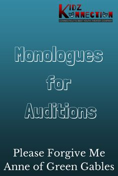 Hundreds of great monologues from plays for men and women of all ages. Monologues include video examples, analysis and character descriptions. Disney Monologues, Monologues For Kids, Female Monologues, Audition Monologues, Drama Education, Drama Class, Organization And Management, Classroom Organization, School Forms