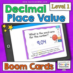 Decimal Place Value interactive, self-checking Boom Cards are a fun way for kids to practice place value concepts using numbers with digits in the tenths and/or hundredths places. These digital task cards are perfect for distance learning! Includes two versions: Common Core and traditional place value terminology. #decimals #decimalactivities #decimalplacevalue #BoomCards #DigitalTaskCards #DistanceLearning #mathboomcards #mathfun Teacher Hacks, Best Teacher, Place Value With Decimals, Decimal Places, Decimal Number, Engage In Learning, Place Values, Fun Math, Read Aloud