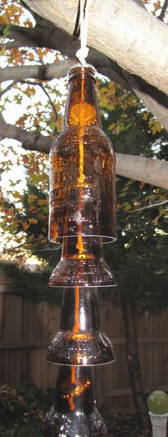 IBC Root Beer Bottle Upcycled Bell Wind