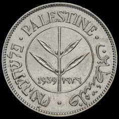 Palestine 1939 Silver 50 Mils