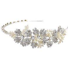 Side Bridal Headband Swarovski and pearl hairband by TamarAndTalya