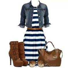 Vestido rayas blanco azul marino
