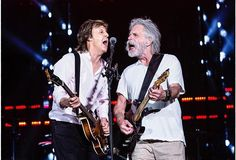 Paul McCartney and Bob Weir at Fenway Park, Boston. Sooo wish I had been there. Love them both!
