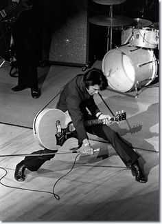 Elvis Presley on stage in Las Vegas, 1969.