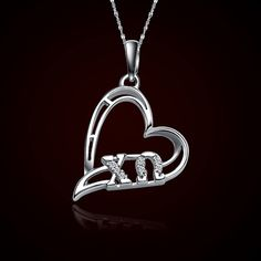 Chi Omega Sorority Heart Charm #Sorority #Greek #ChiO #ChiOmega #Accessories $Jewelry