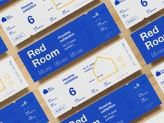 RedRoom Tickets Non-commisioned branding concept (Nov Red Room is the largest housing event in London. It focuses on the provision of social and affordable housing and the development of sustainable communi. Font Design, Web Design, Identity Design, Brochure Design, Banner Design, Layout Design, Brand Identity, Material Design, Exhibition Room