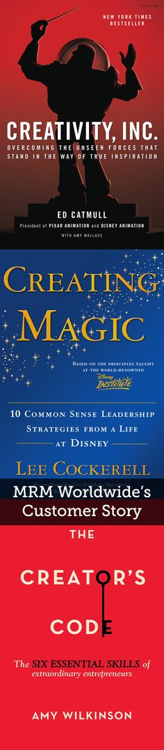 MRM Worldwide's Customer Story | MRM Worldwide, an award-winning global digital marketing agency, purchased 75 copies of Creativity, Inc.; Creating Magic; and The Creator's Code to give to the attendees of their senior leadership meeting.