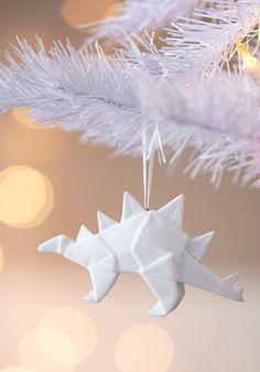 Dinosaur origami ornament