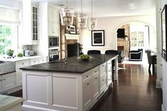 soapstone in a fireplace | toned floor, cream kitchen island, soapstone countertops, soapstone ...