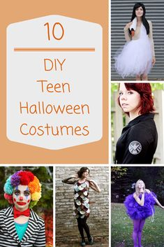 Need a unique DIY idea for a teen Halloween costume? These 10 totally cool teen Halloween costumes will get those creative juices flowing!
