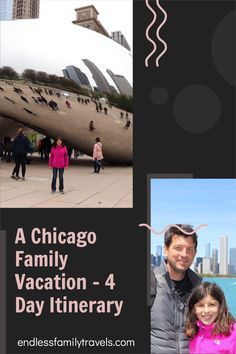Planning a Chicago family vacation? This 4 day Chicago itinerary is perfect for families traveling with kids. Make the most of your family trip to Chicago! #FamilyVacation #Chicago #Itinerary Best Family Vacation Spots, Family Road Trips, Travel With Kids, Family Travel, Road Trip Across America, Road Trip Planner, Visit Chicago, Road Trip Destinations, Families