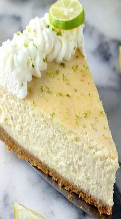 Greek yogurt key lime cheesecake