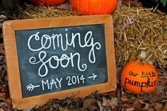 Our Little Pumpkin   Must remember this if I ever do a Fall baby announcement shoot. So cute!