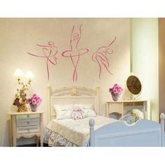 Best Quality Vinyl Wall Sticker Decals - Ballerina - No: basement dance room? Dance Bedroom, Ballerina Bedroom, Ballet Room, Dance Rooms, Girls Bedroom, Bedrooms, Dance Themes, Fantasy Bedroom, Wall Decor