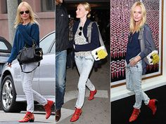 Kate Bosworth's red hot Chloe booties via people Stylewatch
