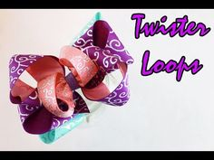 How to make a hairbow: Twister Loops bow DIY - YouTube