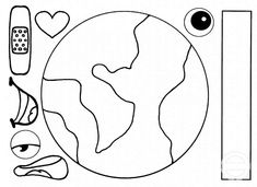 Fantastic Earth Day Craft And Activity For Kids · The Inspiration Edit Earth Day Worksheets, Earth Day Activities, Art Activities For Kids, Art For Kids, Crafts For Kids, Earth Craft, Earth Day Crafts, Preschool Activities, Educational Activities