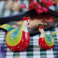 American country oak Manor crack in ceramic glaze Rainbow decoration decorative family chicken decoration_1
