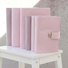elfenklang leather binder pastel