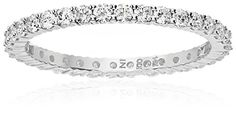 Amazon Collection 14k White Gold Diamond Prong Eternity Ring (H-I Color, I1-I2 Clarity)