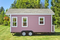 Pink Poco Edition Tiny House on Wheels by Mint Tiny Homes Tiny House Movement // Tiny Living // Tiny House on Wheels // Tiny Home Siding // Tiny House Exterior // Tiny Home Tiny House Exterior, House Siding, Tiny House Swoon, Tiny House On Wheels, Tiny House Movement, Tiny Houses For Sale, Little Houses, Tiny House France, Tiny House Appliances