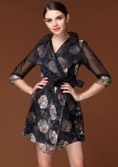sheer floral dress <3