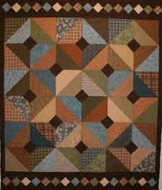 "Crazy Old Ladies Quilts: PATTERNS (Diamond in the Rough - layer cake friendly - 58"" x 70"")"