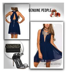 """GENUINE-PEOPLE CONTEST-Holiday Party Dresse"" by suadapolyvore ❤ liked on Polyvore featuring Stuart Weitzman and Genuine_People"