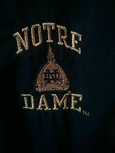 RARE Authentic Notre Dame jacket by  Champion NCAA