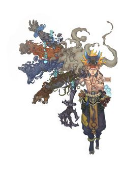Metal Water Wood Fire Earth - Hung Nguyen #characterdesign #illustration