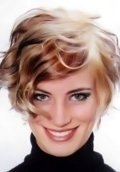 Short, curly and wavy hairstyle number 43.