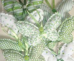 https://flic.kr/p/53kNSB | Borboletas Perfumadas 1 [Explore] | Sachês ou penduricos de Borboletas Verdes com cheirinho de Lavanda...