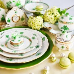 Hand-painted porcelain tableware from Herend.