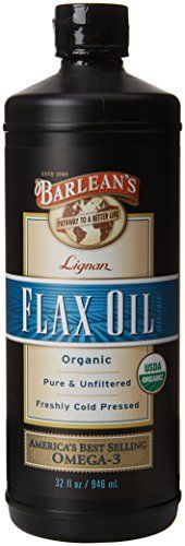 Barlean's Organic Oils Lignan Flax Oil, 32 Ounce >>> Click on the image for additional details.
