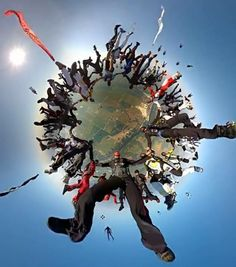 World Record Skydive: This is a wonderful picture and great for your desktop I think! Base Jumping, Bungee Jumping, Sky Surfing, Cliff Diving, All Falls Down, Hang Gliding, Ice Climbing, Paragliding, Stunning Photography