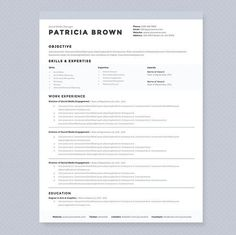 Clean Resume Layouts