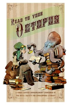 Read to your Octopus print by Brian Kesinger