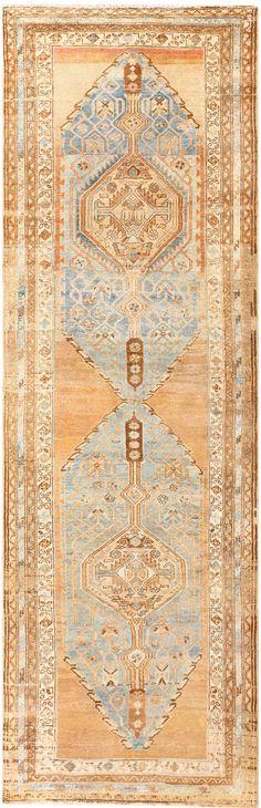 Tribal Antique Turkish Runner Rug 50461